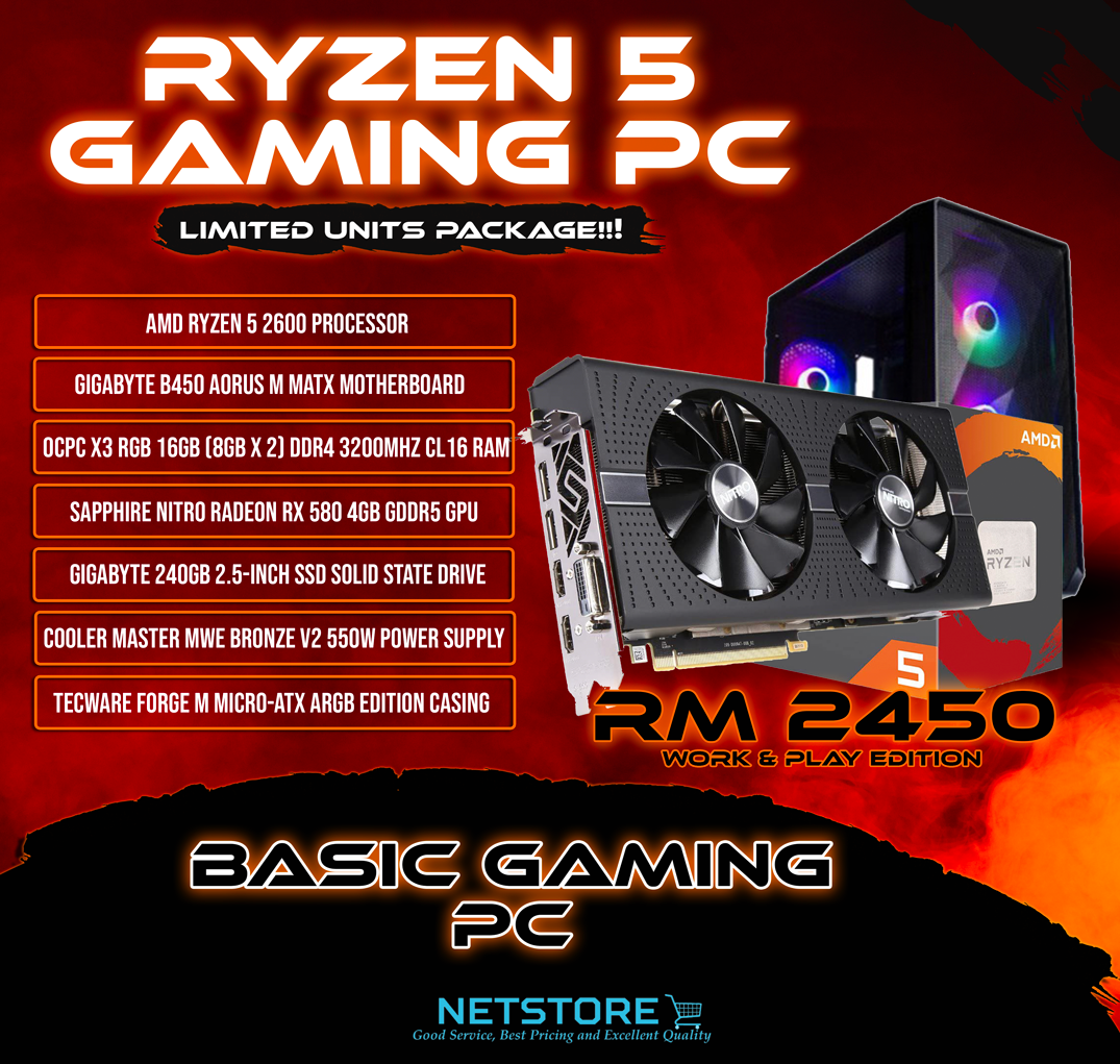 NETSTORE OCT 2020 - BUDGET GAMING PC - RM 2450