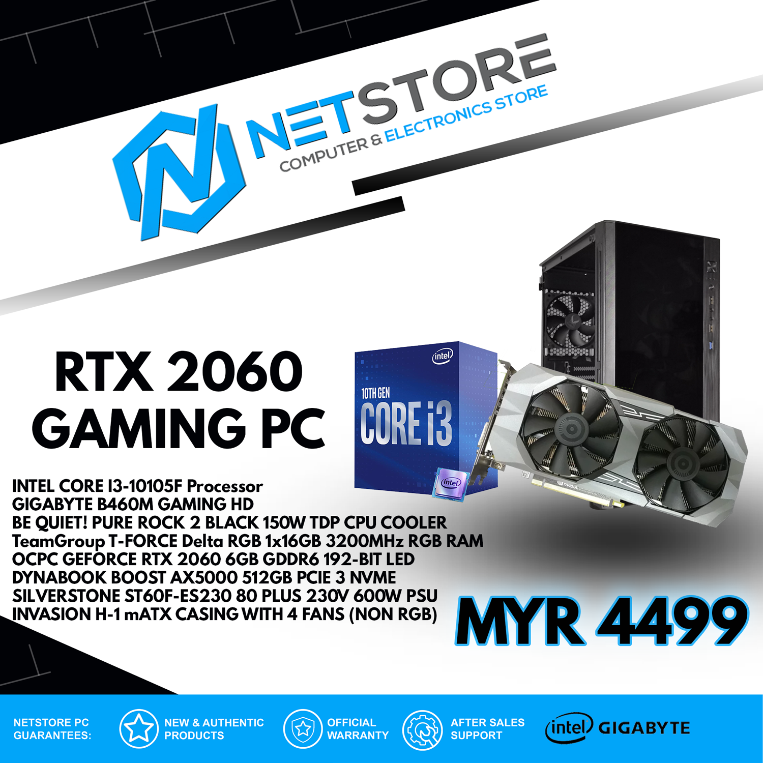 NETSTORE RTX 2060 GAMING PC