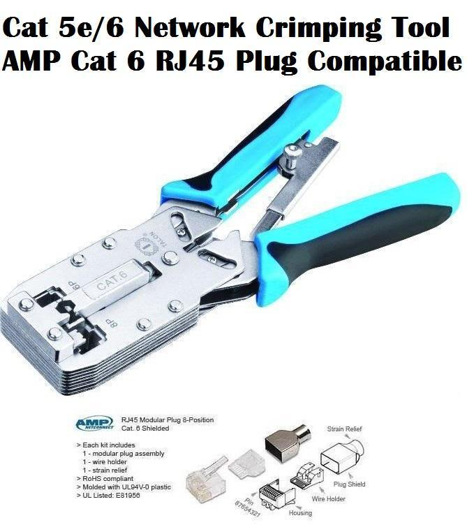 Network crimping tool compatible amp end 622018 815 pm network crimping tool compatible amp cat6 rj45 rj11 cat5e plug cheapraybanclubmaster Image collections
