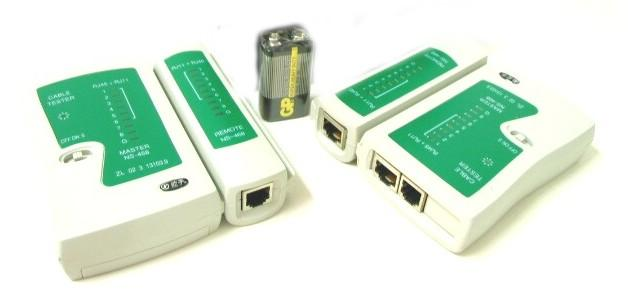 Cat 5 Network Cable Testers : Network lan cable tester rj end  am