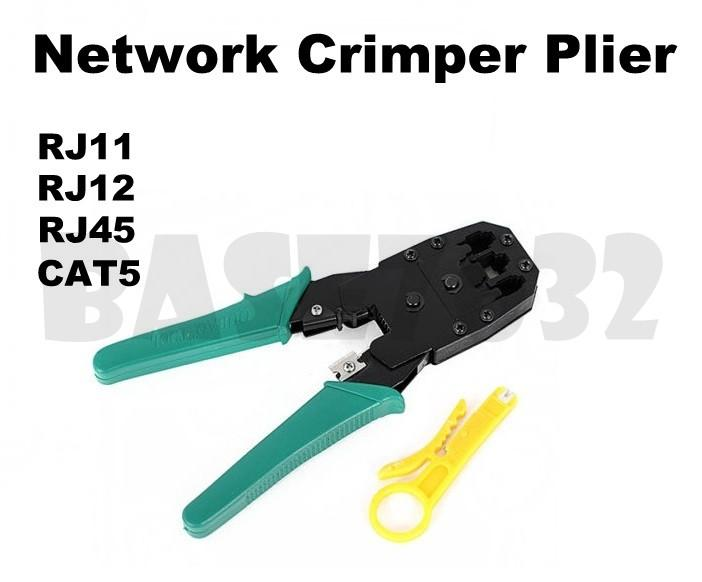 Network  Lan Cable Wire Crimper Plier Stripper Crimping Tool RJ45 RJ11
