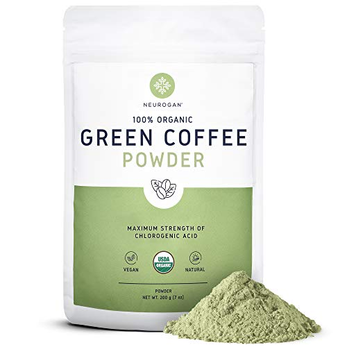 Neurogan Organic Green Coffee Bean Powder Extract with Ingredients to Help Sup