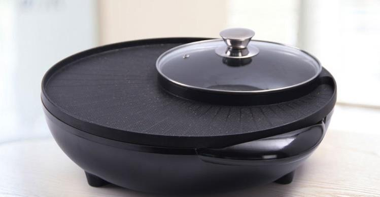 NEW! Korean 2 in 1 BBQ Grill & Steamboat Hot Pot Shabu Roast Fry Pan