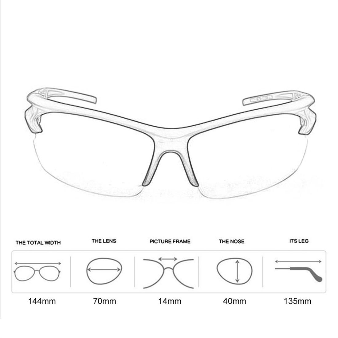 New Sport Outdoor Riding Cycling UV400 Protection Sunglasses
