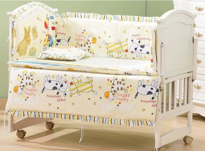 Newborn Baby Bed Bumper Set 5-In-1