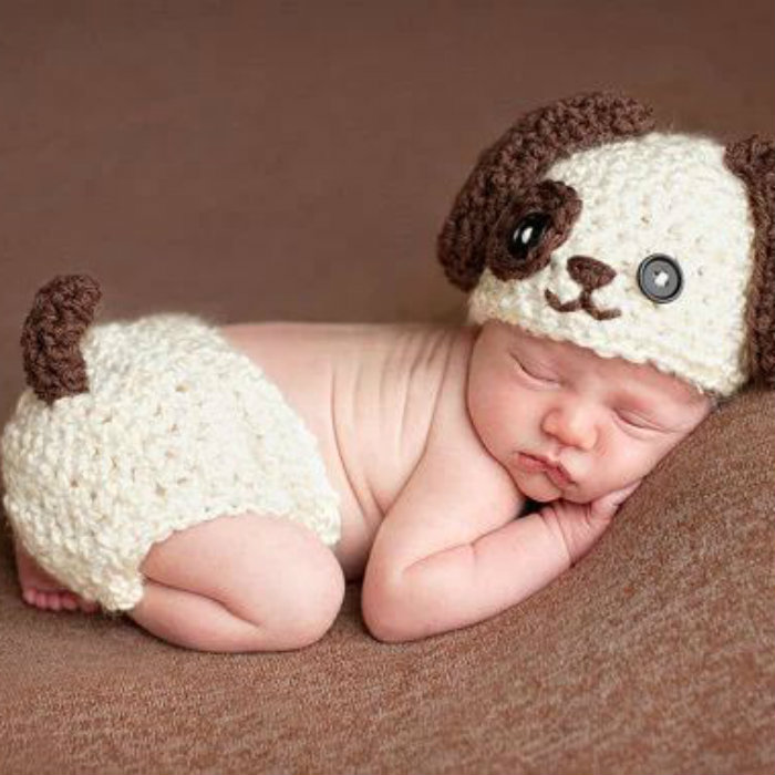 Newborn baby dog costume photo photography prop outfits e