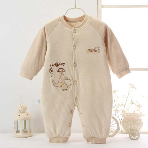 Newborn Cotton Bodysuit Outfit BABY JUMPER JOINED CLOTHING (ELEPHANT)