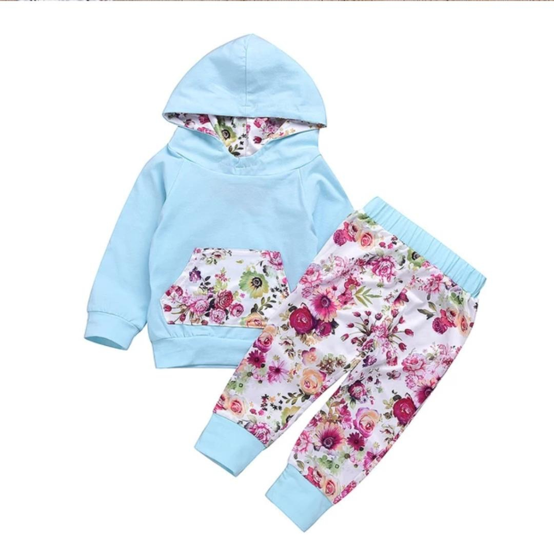 afa9fac915334 Newborn Infant Baby Boy Girl Floral Hoodie Tops+Pants 2Pcs Outfits Clothes  Set. ‹ ›