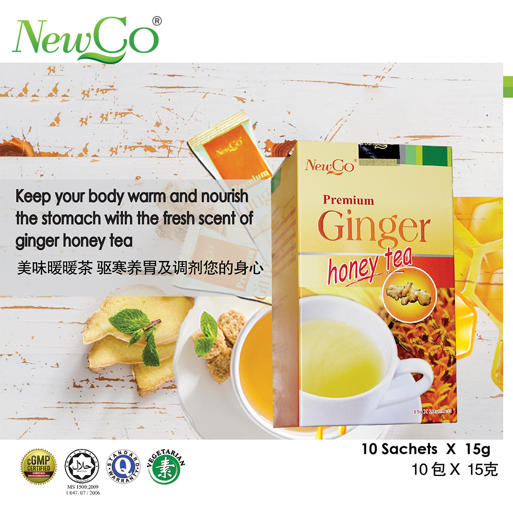 Newco Premium Ginger Honey Tea 2X 10 sachets