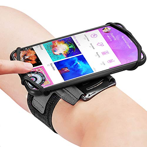 US. Newppon 180° Rotatable Running Phone Armband :with Key Holder for Apple i