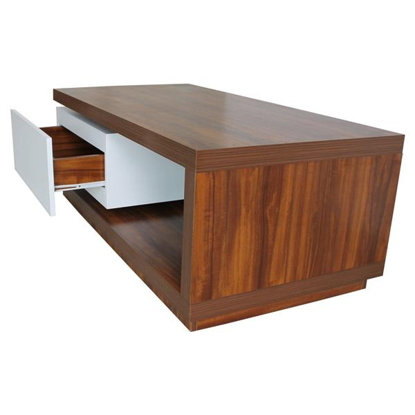 Nexera 4ft Solid Melamine Board BROWN WHITE WOODEN Coffee Table OFFICE