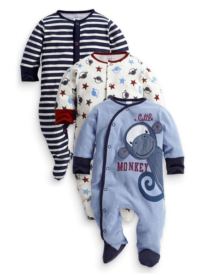 d59867b966 NextBaby 100% Cotton Baby Boy Sleepsuit Pajamas Cloth 3pcs (Random Des. ‹ ›