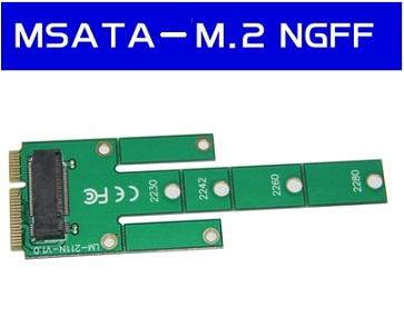 NGFF M.2 B Key SATA-Based SSD to mSATA Mini PCIe Male Converter