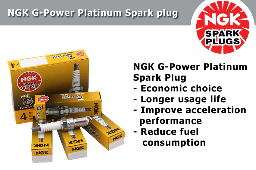 NGK G-Power Platinum Spark Plug for Proton Preve 1.6 (Campro)
