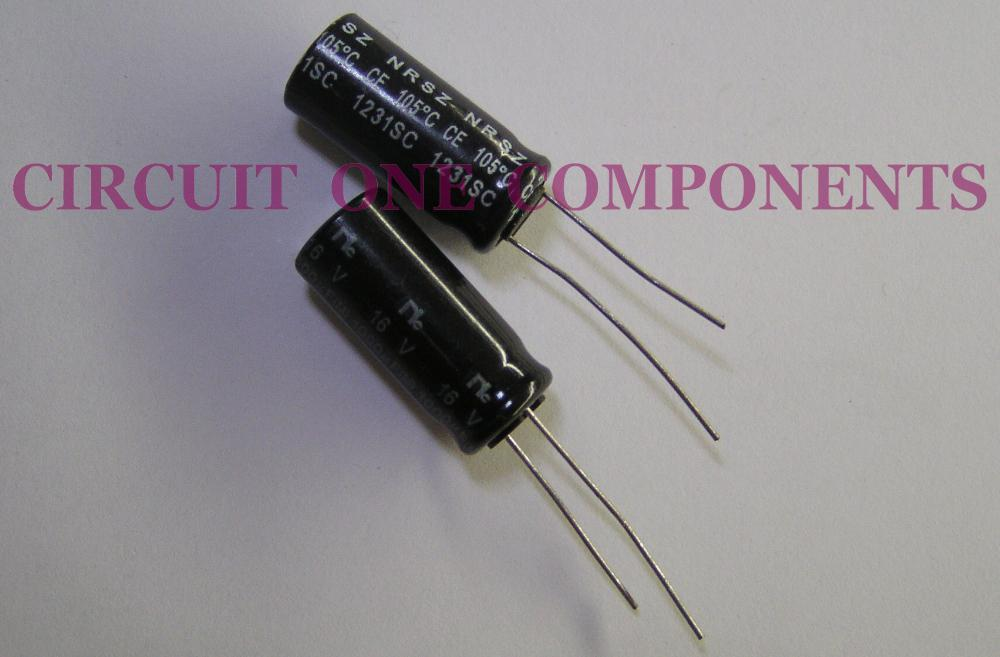 NIC 1000uF 16v Electrolytic Capacitor ( Japan ) - Each