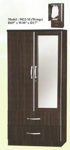 NiceHome Furniture HOT Seller 2DOOR Wardrobe WITH MIRROR-9022M