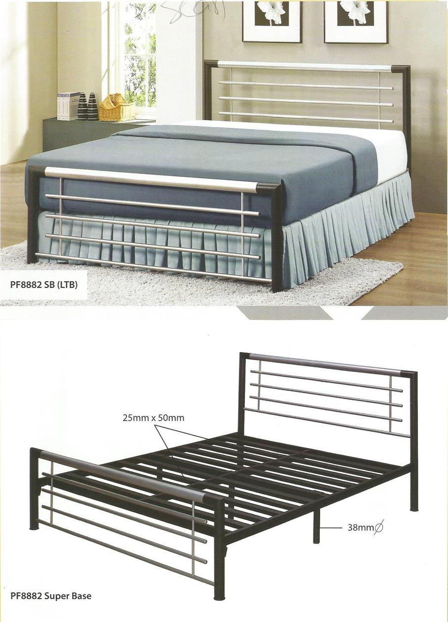 Nicehome Furniture Limited Queen Size Bed Katil Besi Pf8882 Sb