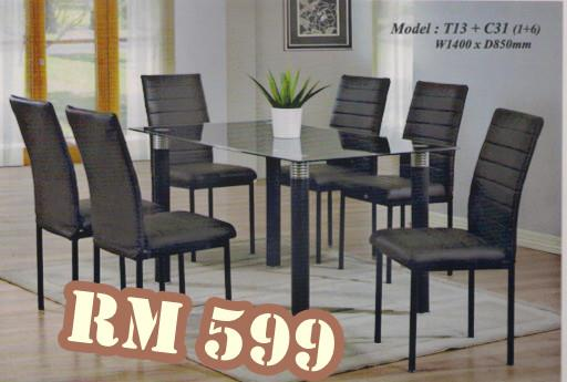 Nicehome Offer Price Dining Table1 6 Just RM599 Model