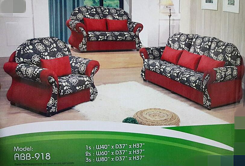 NiceHome Set Promo 1+2+3 sofa set model - 918