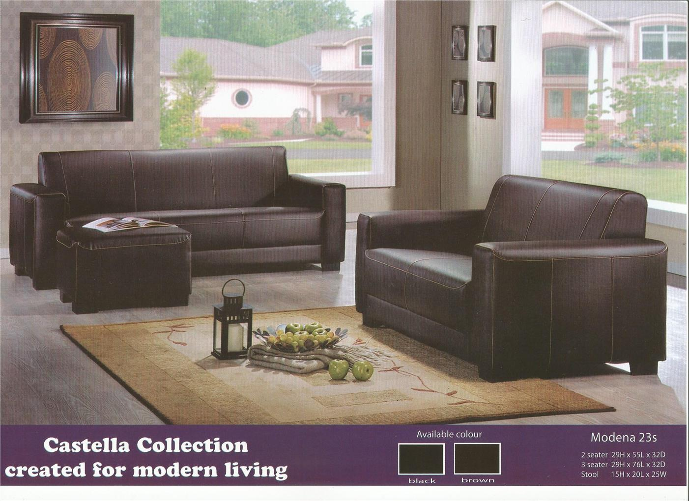 NiceHome Set Promo 2+3+stool sofa set model - MODENA 23S
