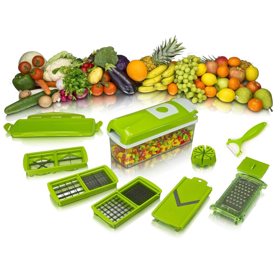 Nicer Dicer PLUS. Multi-Purpose Interchangeable Chopper,Cutter,Slicer.