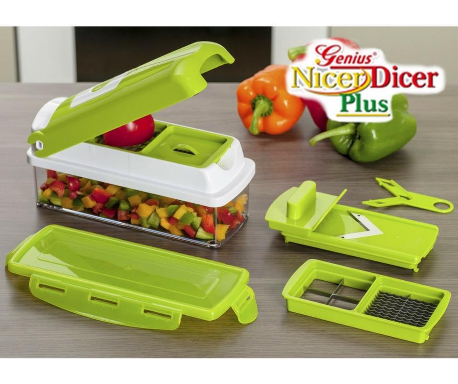 nicer dicer plus multifunction kitchen chopper cutter slicer smart generation. Black Bedroom Furniture Sets. Home Design Ideas