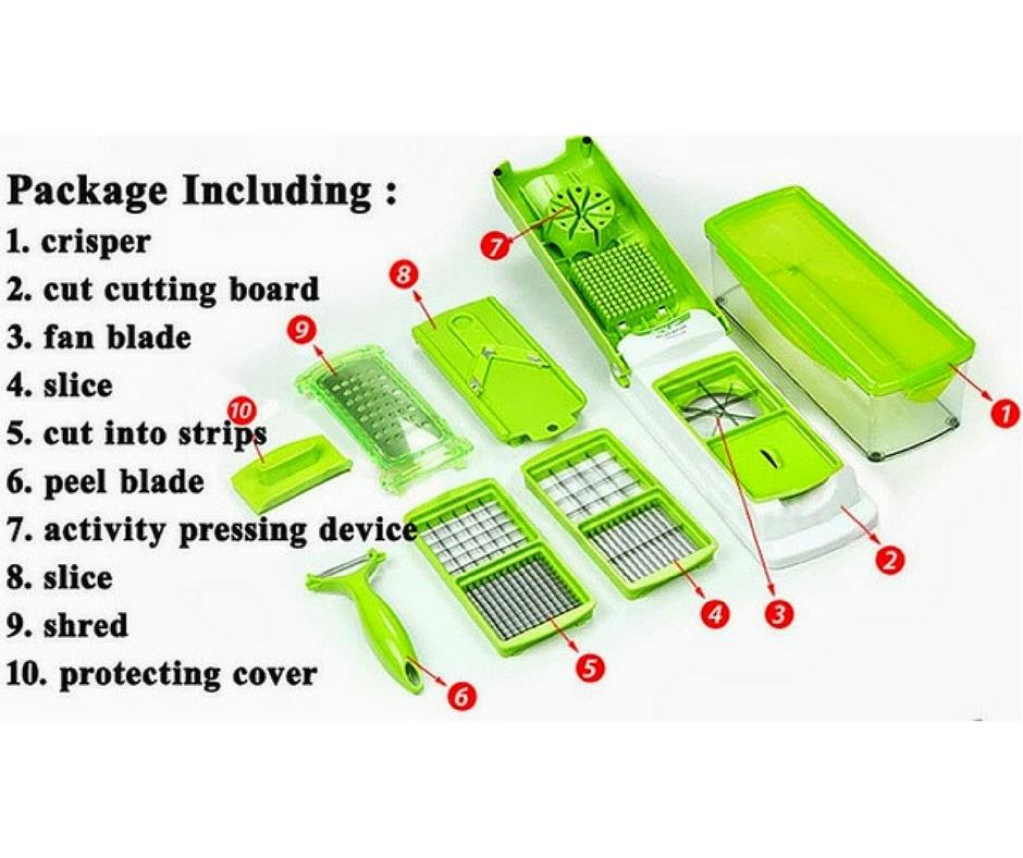 Nicer Dicer Plus Multifunction Kitchen Chopper/Cutter/Slicer