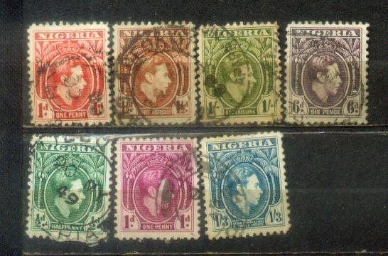Nigeria 7 Old Stamps