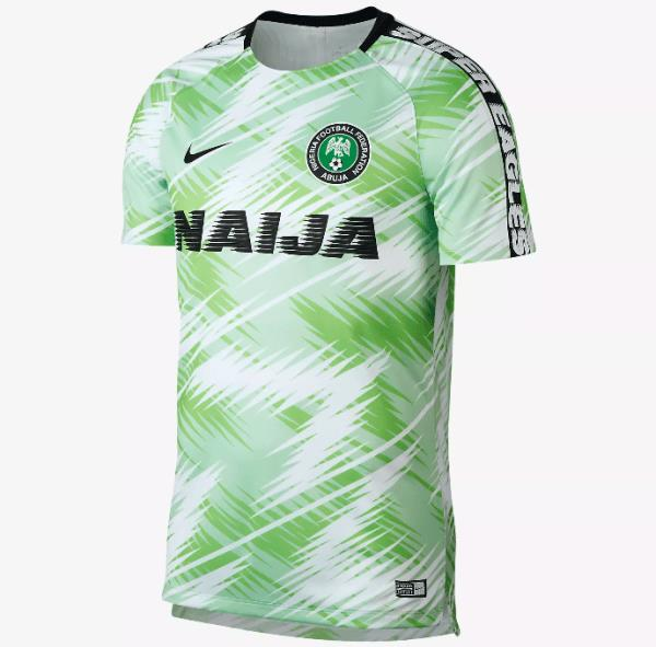 best authentic fded7 0a16d Nigeria National Team Prematch Jersey World Cup 2018 football for Man