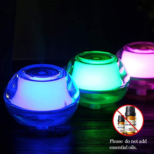 ~ Night Light LED Bulb Cool Mist Moisturizing Humidifier, Portable Crystal Vap