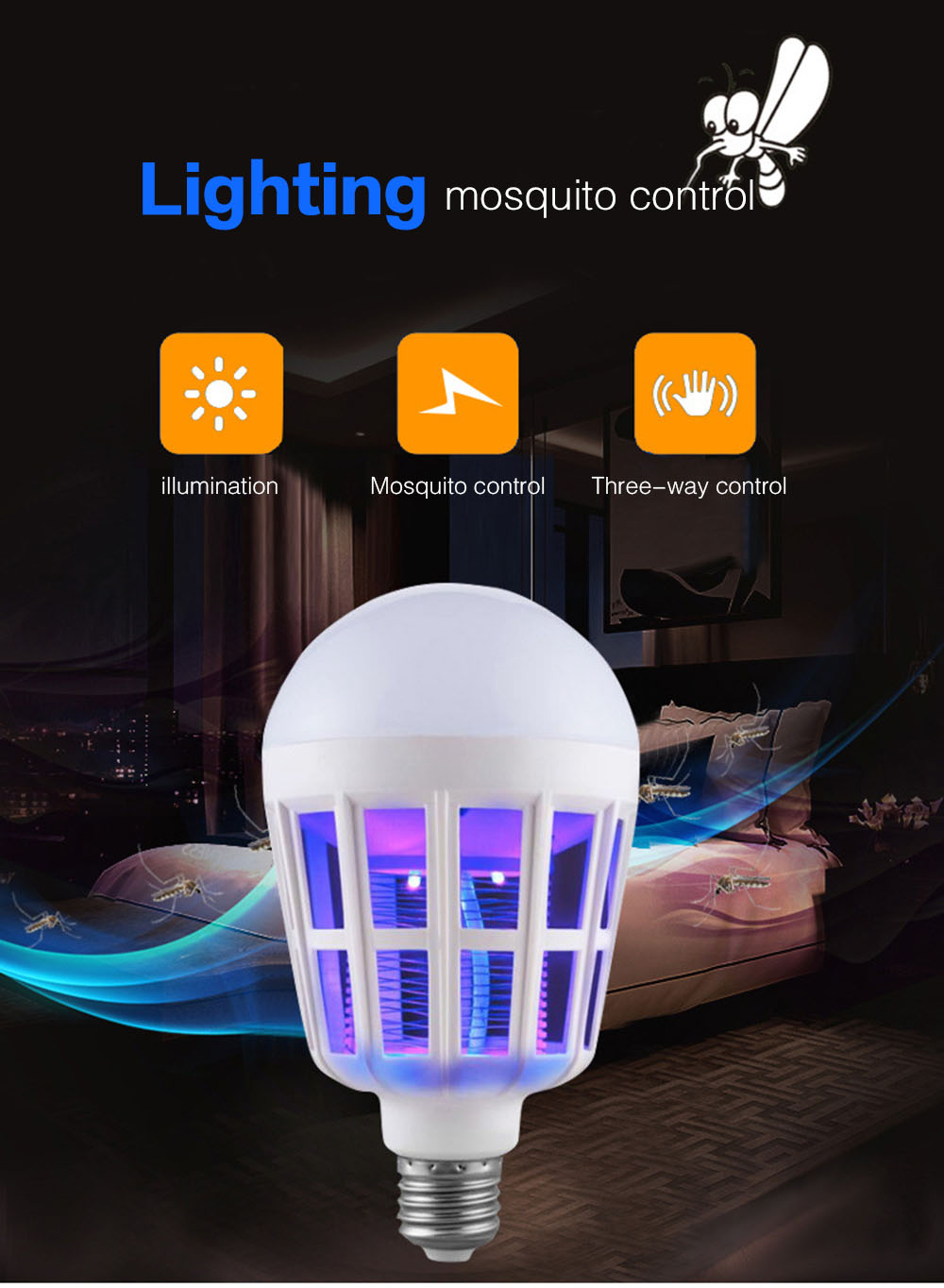 Night Lights - Mosquito Bulb Lamp - UTORCH Led Mosquito Home Lighting ..