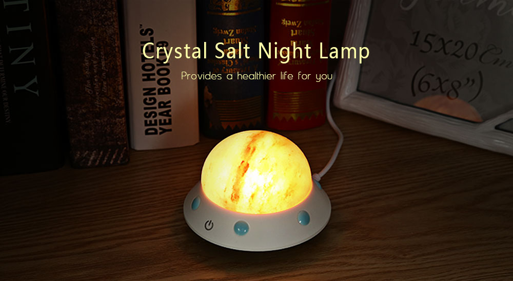 Night Lights - Njh - Fo Crystal Salt Night Lamp Touch Control For Indo..