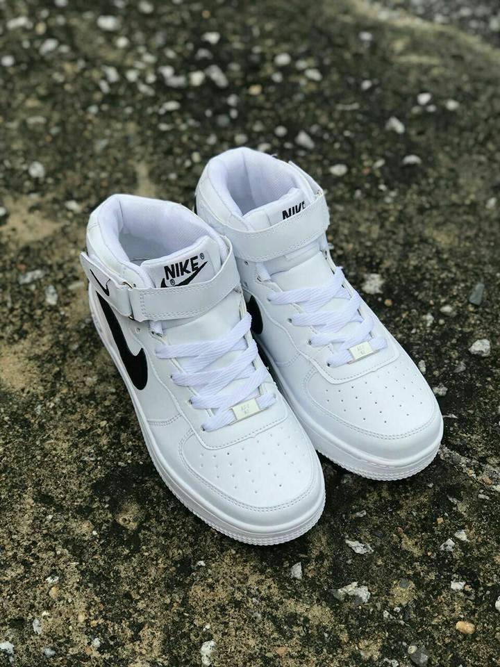 nike white high cut Shop Clothing