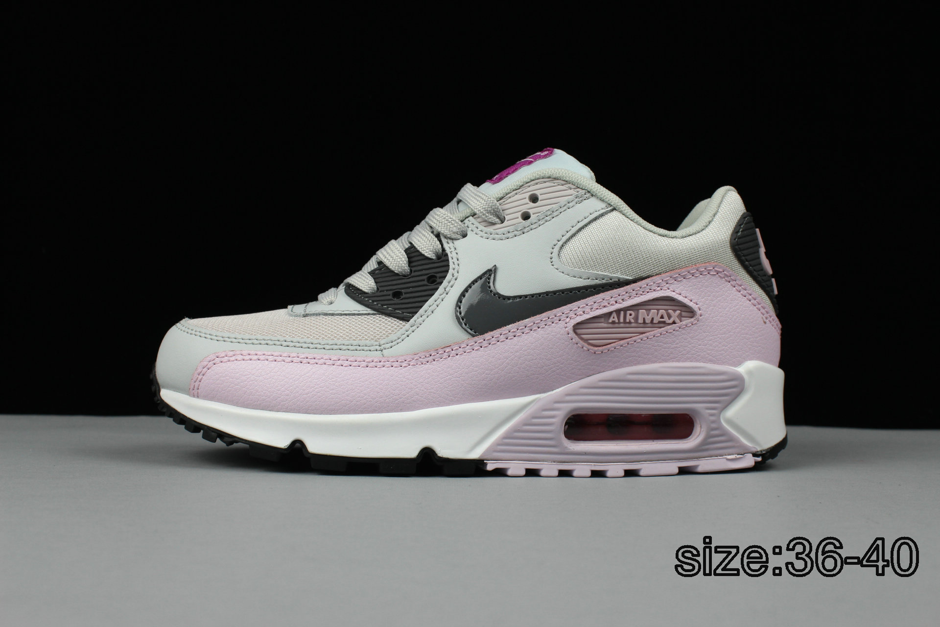 NIKE AIR MAX 90 PINK WHITE GREY (end 1 26 2021 12 00 AM) 29fdfbe95