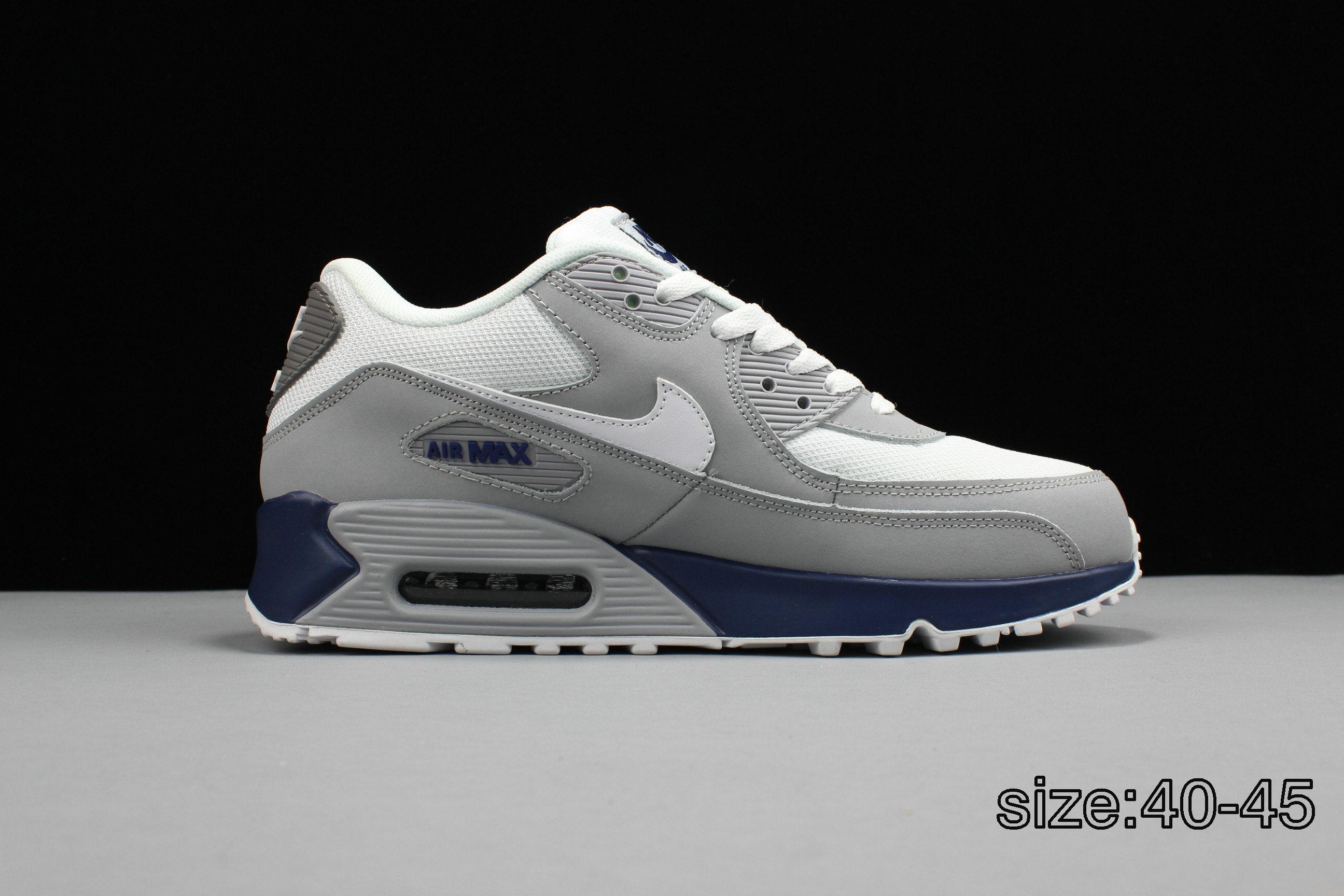 9c55051a66 ... NIKE AIR MAX 90 STAR GREY BLUE Air Max 90 - Nike - 325018 144 - white  varsity blue-ntrl ...