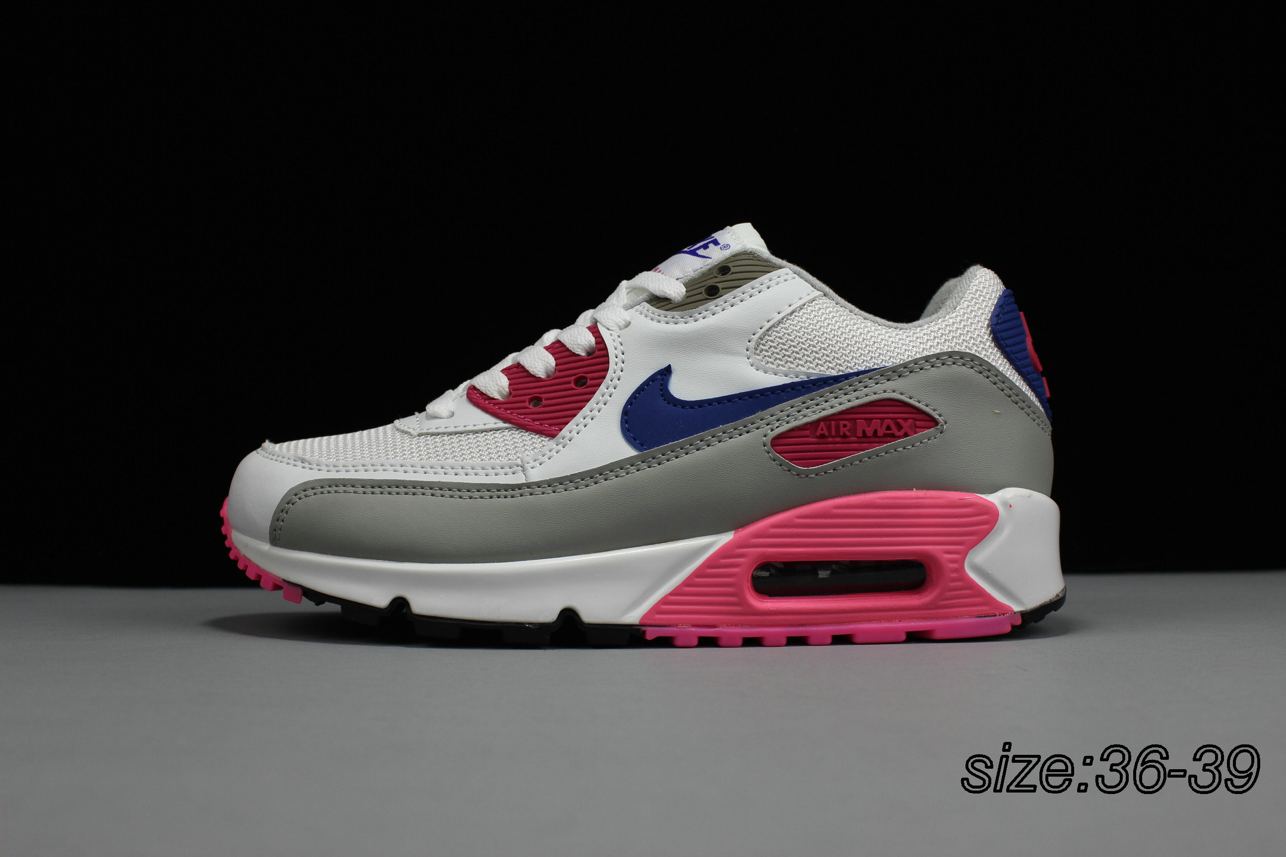 NIKE AIR MAX 90 WHITE PINK BLUE (end 1 26 2021 12 00 AM) 6835eb60330f