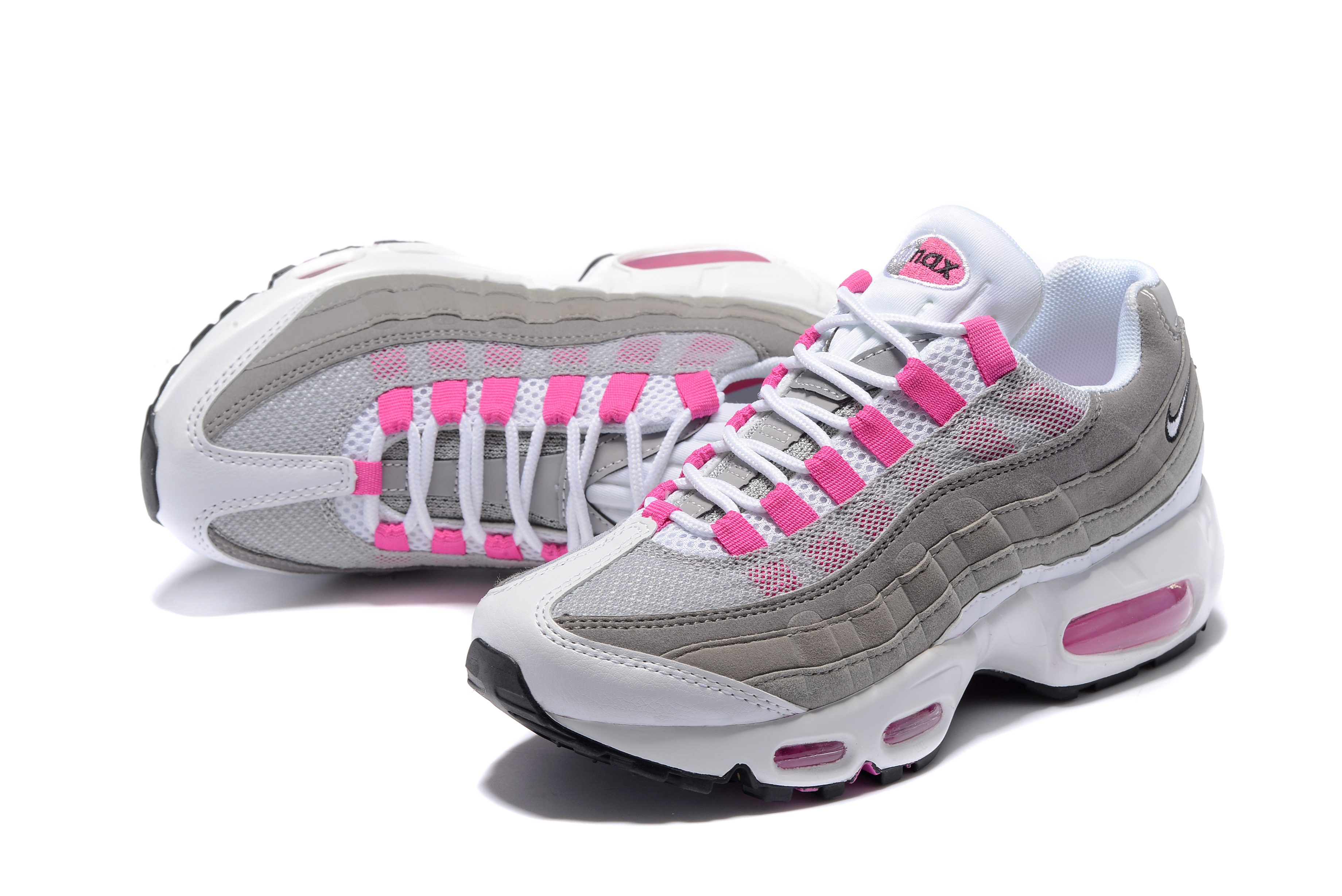 354feabef541f ... italy nike air max 95 essential white pink grey 0a892 f3ba7