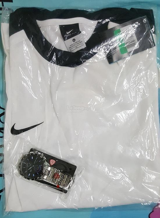 NIKE DRI-FIT T-SHIRT & LONGBO WATCH   FREE DELIVERY