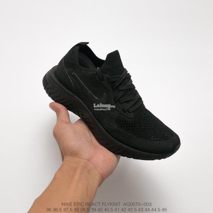 94c5a71e3d276 Nike Epic React Flyknit Black (end 5 12 2019 12 15 PM)