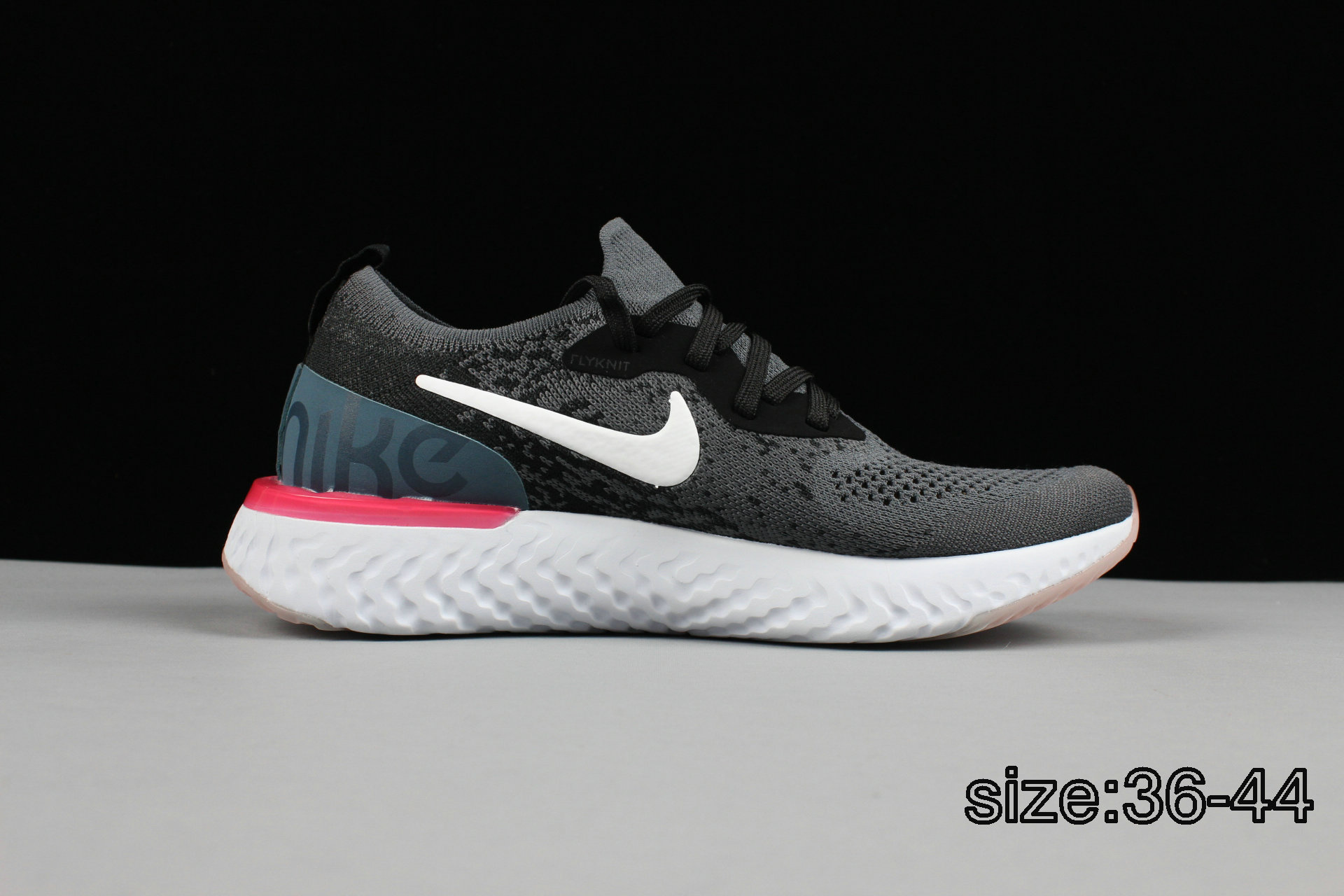 NIKE EPIC REACT FLYKNIT DARK GREY WHITE