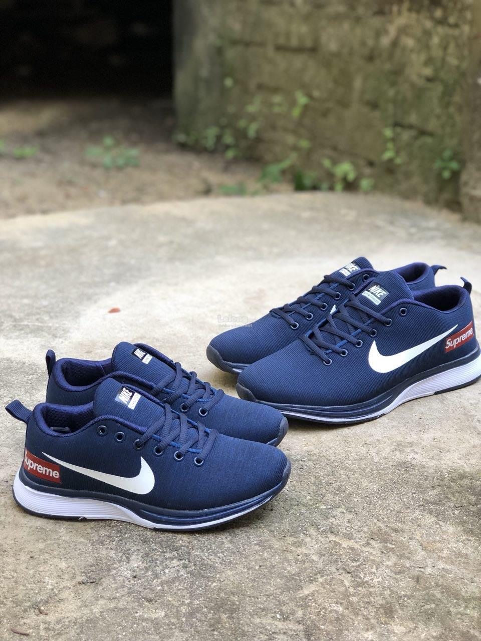 new concept 08f56 0c38f Nike Flyknit racer X supreme navy white