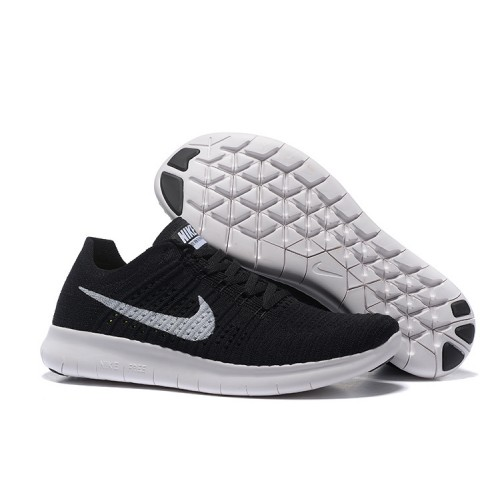 NIKE FREE RUN 5.0 FLYKNIT BLACK WHITE