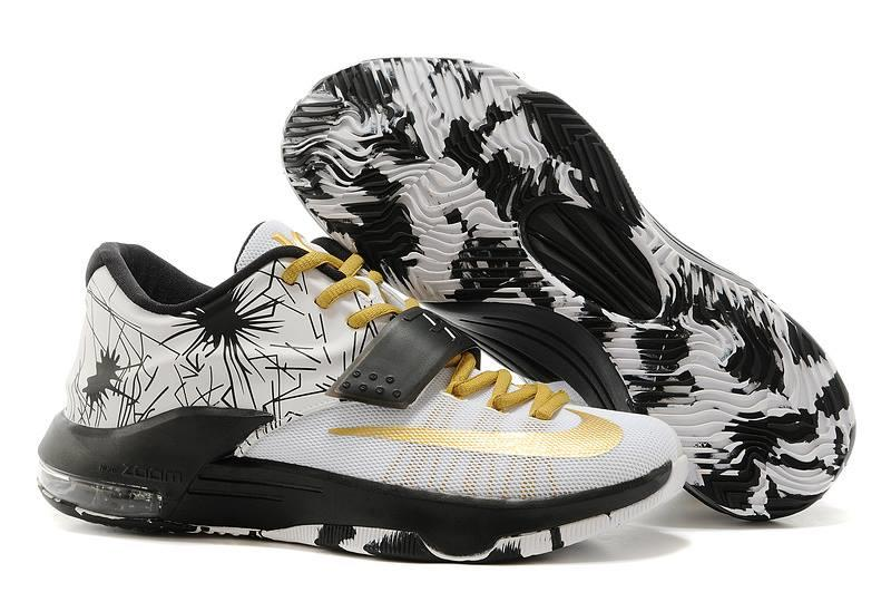 Kevin Durant White Gold Shoes