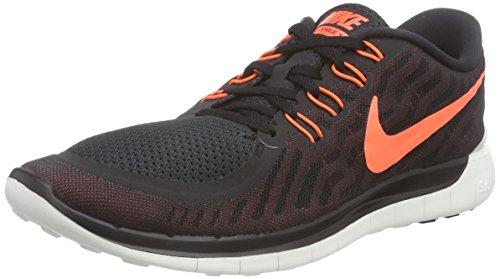 NIKE Mens Free 5.0 Running Shoe Black University Red White Hyper Orange  Size. ‹ › 8d3c38a56