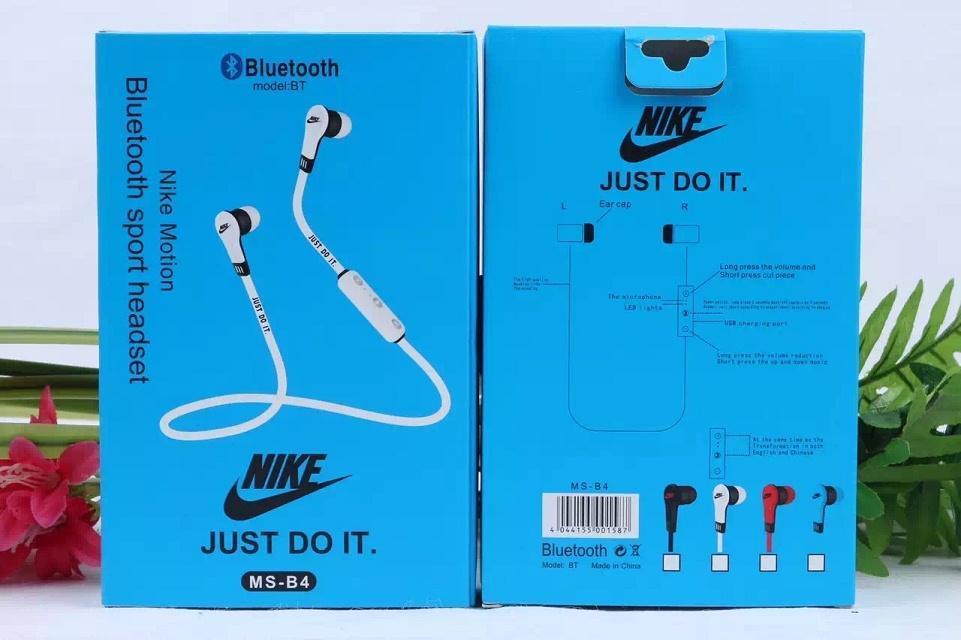 NIKE MS-B4 Bluetooth 4.0 Earphones Fashion Sport Stereo Music. ‹ ›