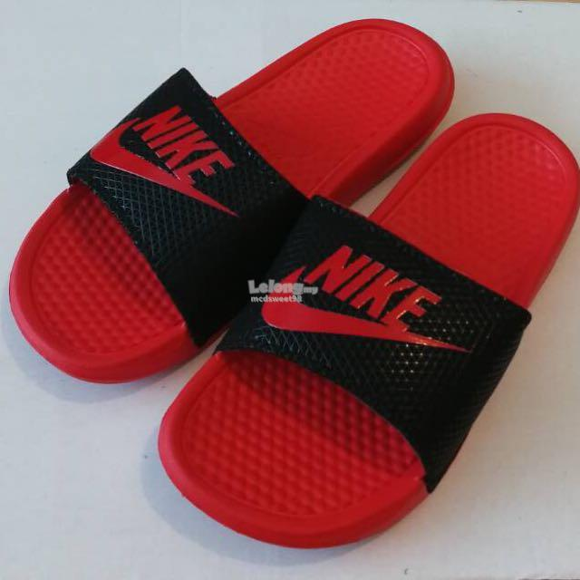buy popular d05d6 9b266 NIKE SANDAL SLIPPERS BEACH WEAR NEW TRIPLE AAA QUALITY RUBBER CRIMSON