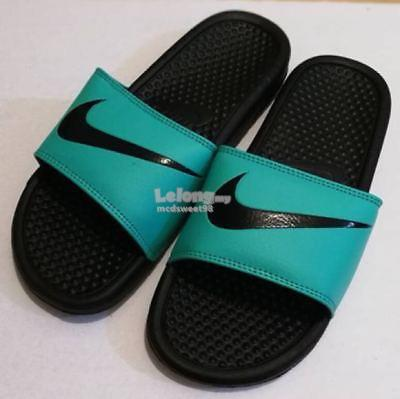 check out dfb18 7a649 NIKE SANDAL SLIPPERS BEACH WEAR NEW TRIPLE AAA QUALITY RUBBER GREEN BL