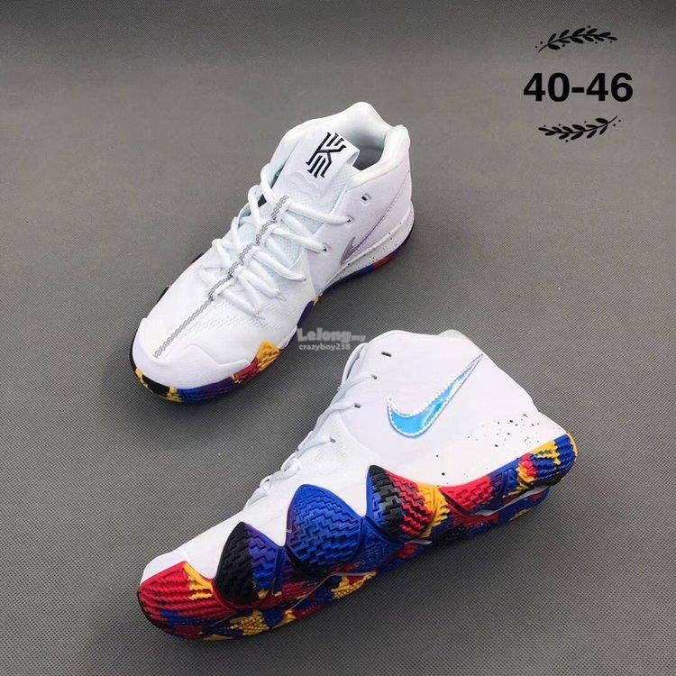 545cea3b3ddf ... official nike shoes nike zoom kyrie 4 white 443ab 5f056