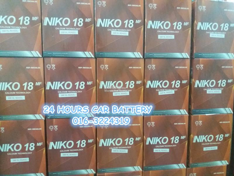 NIKO 18 NS60LS / 46B24RS AUTOMOTIVE CAR BATTER