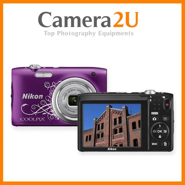 NEW Nikon Coolpix A100 PURPLE Camera (Malaysia Warranty) + 8GB +Case